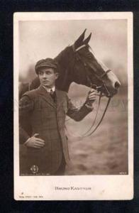 038159 Bruno KASTNER & HORSE. Movie Star. Old PHOTO