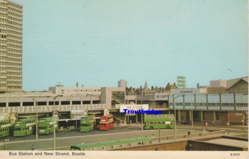 (au27) Lancashire Bootle Bus Station and New Strand PC