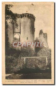 Old Postcard Lavardin L and Ch Le Chateau Old entrance with drawbridge