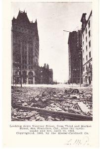 San Francisco Eaarthquake Rieder-Cardinell Card