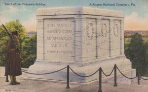 Tomb Of The Unknown Soldier Arlington National USA Military Cemetary Postcard