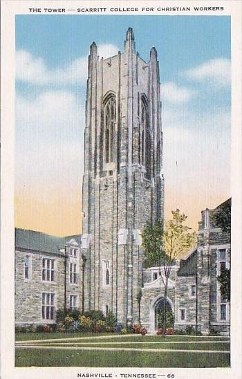 Tennessee Nashville The Tower Scarritt College For Christian Workers 1954