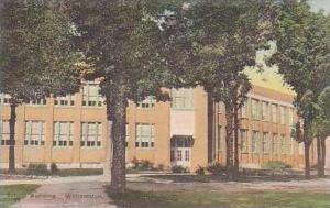 Michigan Williamston School Building Handcolored Albertype