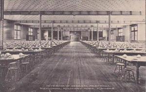 Kansas National Military Home Interior General Mess Hall Albertype