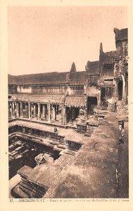 Bassin et galerie cruciale vus du Sud East Angkor Vat Cambodia, Cambodge Unused