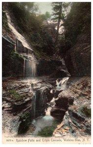 New York  Rainbow Falls and Triple Cascade  Watkins Glen