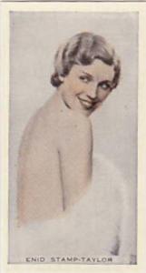 R & J Hill Vintage Cigarette Card Cinema Celebrities No 6 Enid Stamp-Taylor  ...
