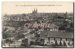 Old Postcard Panoramic View of Clermont Ferrand