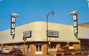 Santa Rosa California Greyhound Bus Depot Street View Vintage Postcard K94335