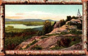 New York Adirondacks The Fulton Chain From Bald Mountain Birch Border
