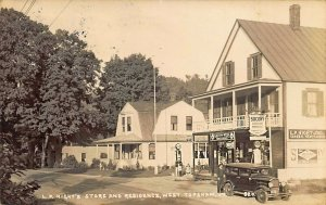 West Topsham VT Hight's Store Socony Gas Pumps Real Photo Postcard