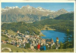 Switzerland, Suisse, St. Moritz, 1970s used Postcard