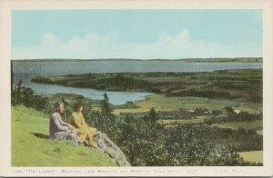 The Lookout Blomidon NS Nova Scotia Revaron Motor Court Advert PECO Postcard F77