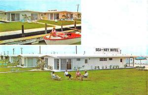 Marathon Shores FL Sea and Key Botel, Old Boat Postcard