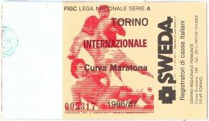 69541 - Vecchio  BIGLIETTO PARTITA CALCIO - 1986 / 1987: TORINO - INTER