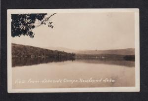NH Newfound Lake Lakeside Camps Bristol NEW HAMPSHIRE RPPC Real Photo Postcard