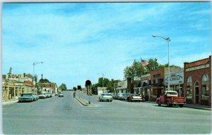 FORT SUMNER, New Mexico NM ~ STREET SCENE Highway 84 De Baca County Postcard