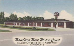 North Carolina Salisbury Ramblers Rest Molor Court