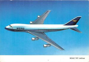 BOAC 747 Jetliner, in the air