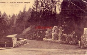 ENTRANCE TO CITY PARK, PORTLAND, OR 1908
