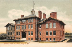 LPV06 Fairfax Vermont VT Postcard Bellows Free Academy Hand Colored