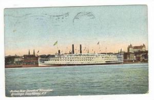 New York Steamship  ADIRONDACK , PU1910, Hudson River Dayline