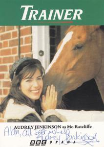Audrey Jenkinson Trainer BBC Horse Racing Show Knightmare Hand Signed Cast Photo