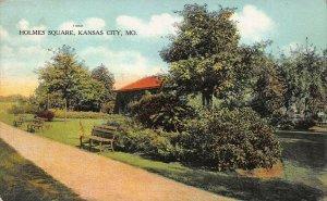 Holmes Square, Kansas City, Missouri, early postcard