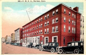 Meriden, Connecticut - Cars in front of the Y.M.C.A. - in the 1920s