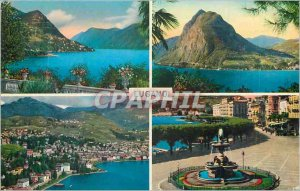 Modern Postcard Hautes Alpes Isere Ecrins The Girose glacier and the Valley o...