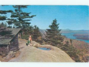 Pre-1980 LAKE SCENE Adirondacks - Old Forge - Fourth Lake New York NY AE4187-12