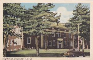 BRIDGEWATER, Nova Scotia , Canada , PU-1952; High School