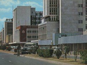 Cairo Road Lusaka Zambia Bicycles 1970s Postcard