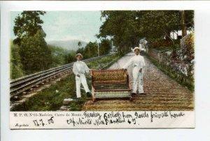 424420 PORTUGAL MADEIRA Mount Path Car Descent Vintage postcard