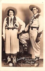 Greetings from the Biggest Couple Fisher Barnum & Bailey Greatest Show on Ear...