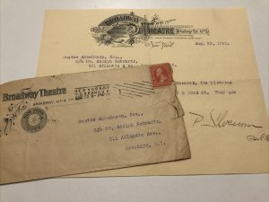 1898 BROADWAY THEATRE Operatta NEW YORK McCormick 41st St Envelope & Letterhead