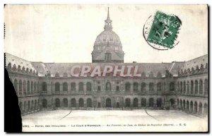 Old Postcard The Paris Hotel des Invalides Court D Honor