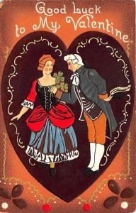 Raphael Tuck #Good Luck# #19 Good Luck To My Valentine Postcard