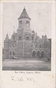Maine Augusta The Post Office 1905