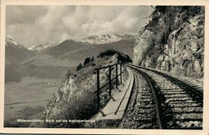 Germany Mittenwaldbahn Blick auf die Sellrainer Berge 02.75