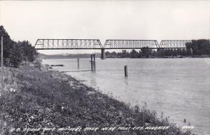 Nebraska Falls City Railroad Bridge Over Missouri River Real Photo