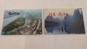 Pair of China Gulin Scenic Views 22 Cards Total Postcard Folders J46999