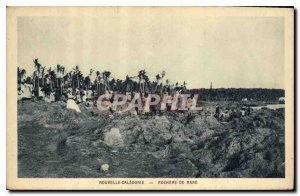 Old Postcard New Caledonia Rocks Mare