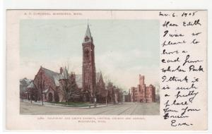 Central Church Armory Salisbury Street Worcester Massachusetts 1905 postcard