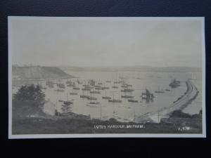 Devon BRIXHAM Cuter Harbour - Old RP Postcard by F.Y.W.
