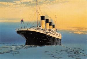 Art Postcard of The Titanic by Artist Timothy O'Brien (Rembrandt No.97) 2V