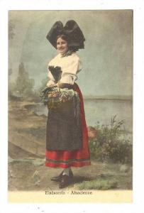 Elsasserin - Alsacienne, Woman With A Basket Of Vegetables, 1900-1910s