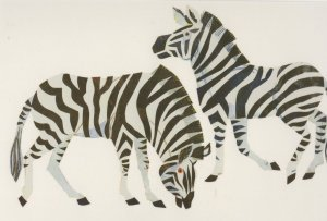 Zebra From The Very Hungry Caterpillars ABC Eric Carle Book Postcard