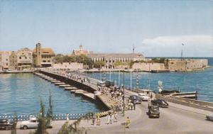 CURACAO, 1940-1960's; Pontoon Bridge