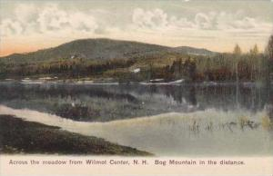 New Hampshire Bog Mountain In The Distance Across The Meadow From Wilmot Center